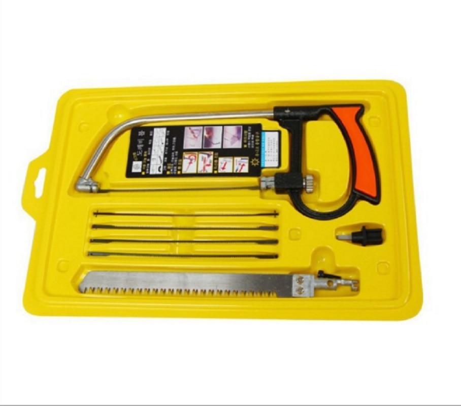 245mm * 100mm Multi-Funktionale Haushalts Hacksaw Manuelle Hardware Tools Set Holzbearbeitung Sah Für Schneiden Holz Aluminium glas