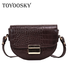 TOYOOSKY Crocodile Pattern Vintage Leather Crossbody Bags For Women New Small Purses and Handbags Ladies Shoulder Messenger Bag