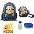 1 set Minion Children School Bags for boys cute cartoon school backpack mochila minion backpacks 15.7inch High Quality