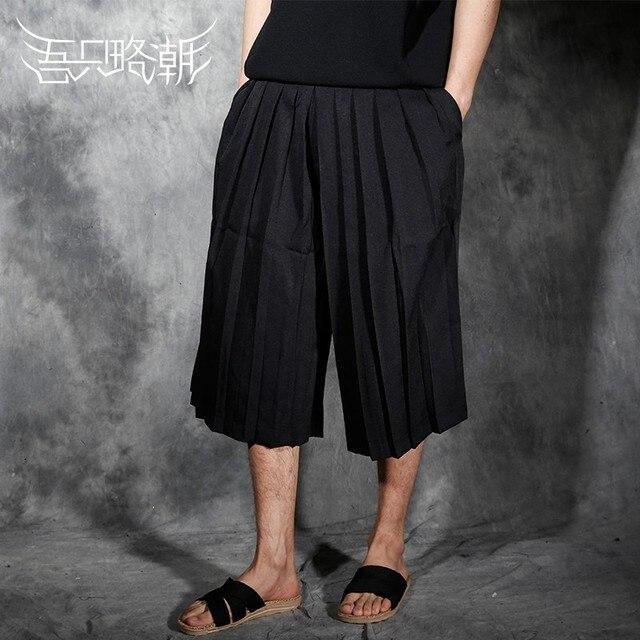 2017 Người Đàn Ông của quần áo Gd thời trang Nhà Tạo Mẫu Tóc Nam gấp chân quần lớn quần quần capris trang phục ca sĩ