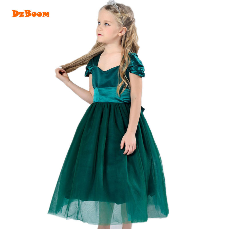 DzBoom Child Girls Dress Children Princess Wedding Tutu Dresses Evening Party Kids Cute Costume Prom Clothing For Girl girl white dress rose lace costume wedding dresses princess toddler girls tutu summer party prom for girl kids evening clothing