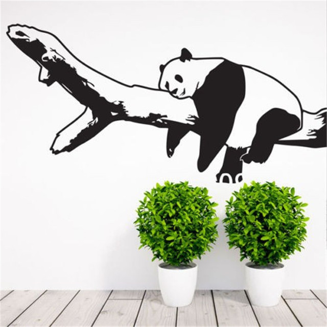 Nursery Room Panda Bear Wall Decal Art Decor Sticker Vinyl Stickers Home Bedroom
