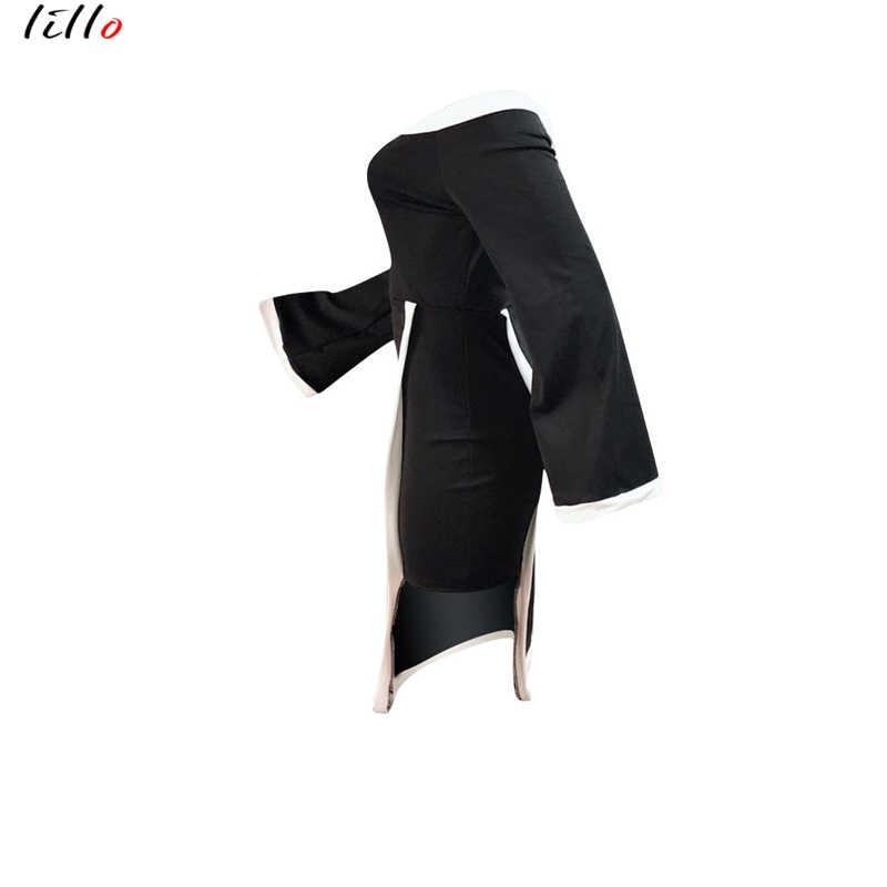 Женское платье с рукавами-раструбами, женское платье в африканском стиле, новое женское платье с воротником-стойкой, модное Черное и белое платье