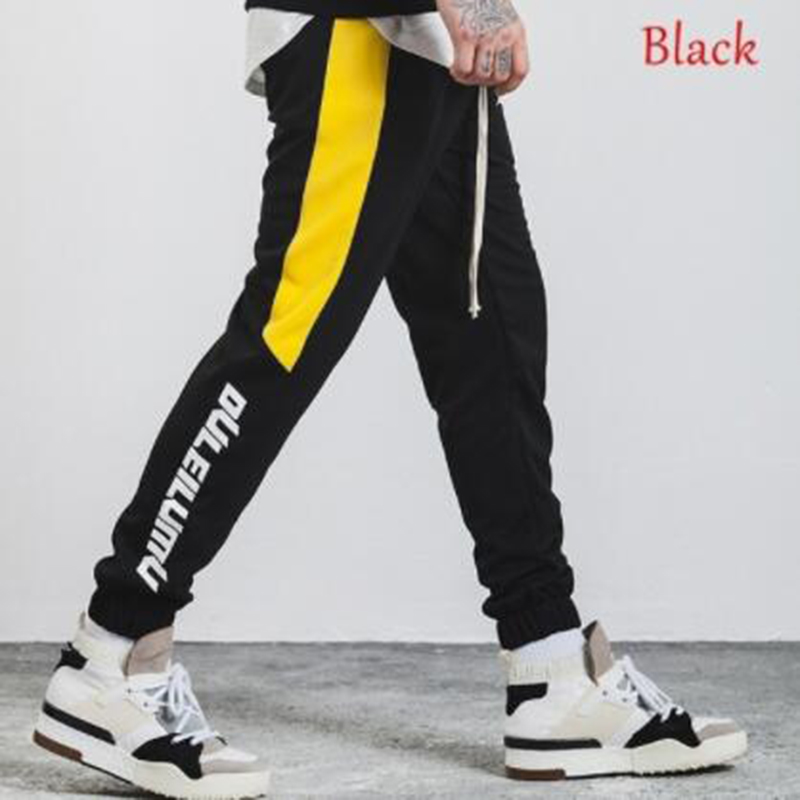 ZOGAA 2019 Men Pants Full Length Side Stripe Printed Trousers Mens Joggers Sportswear Fitness Gym Pants Male Vintage Sweatpants