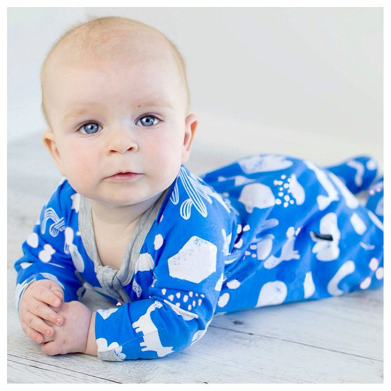 New Spring Autumn Baby Rompers Cute Cartoon Printed Infant Girl Boy Jumpers Kids Clothes Baby Outfits Clothes Clothing Infants