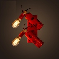 IWHD Nordic Style Industrial Vintage Wall Light Loft Retro Fire Hydrant Wall Lamp Edison Bulb Light Fixtures Home Lighting