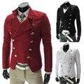Bleiser masculino blaser hombre cruzado delgado grueso traje de chaqueta de los hombres casual slim fit blazer negocio chaquetas formales