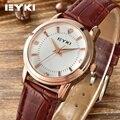 Original EYKI Pulseira de Couro Retro Relógios das Mulheres Tendência da Moda Coreano Simples Feminino relógios de Quartzo