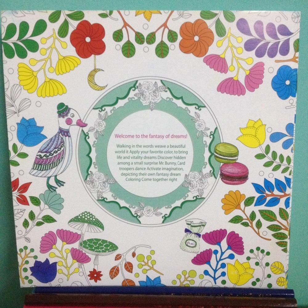 US $2 63 OFF 24 Halaman Fantasi Mimpi Rahasia Taman Seri Antistress Graffiti Lukisan Gambar Seni Buku Mewarnai Buku Untuk Anak Dewasa Book Book