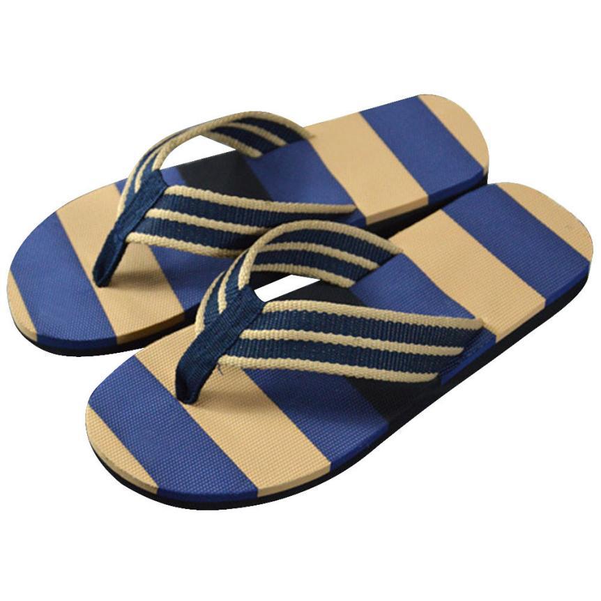 buy men summer stripe flip flops shoes. Black Bedroom Furniture Sets. Home Design Ideas