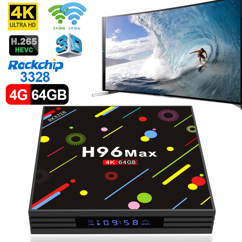 TV Box Android 7,1 4 GB 32 GB 64 GB Smart TV Rockchip RK3328 1080 p H.265 4 K Google Netflix, Youtube reproductor de medios