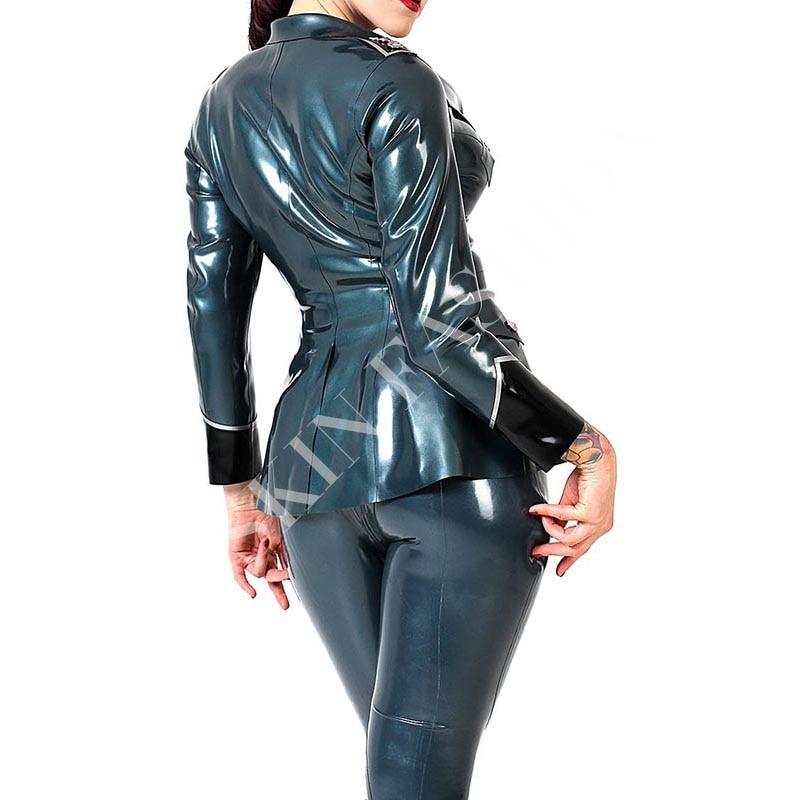 Женские куртки латексная Униформа пальто