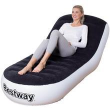 Einzigen Deluxe Beflockung Aufblasbare Sofa Rckenlehne Sitzsack Sthle Outdoor Tragbare PVC Stuhl AUFGEBLASEN Wohnzimmer