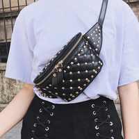 ZDARLBO, модная Женская поясная сумка с заклепками, Peggybuy, поясная сумка для женщин, сумка на пояс Bananka, нагрудная сумка, женская сумка на бедро, су...
