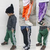 Kids Spring Summer Autumn Winter Clothes Boy Pants Girls Trousers Baby Casual Stripe Sport Long Pants