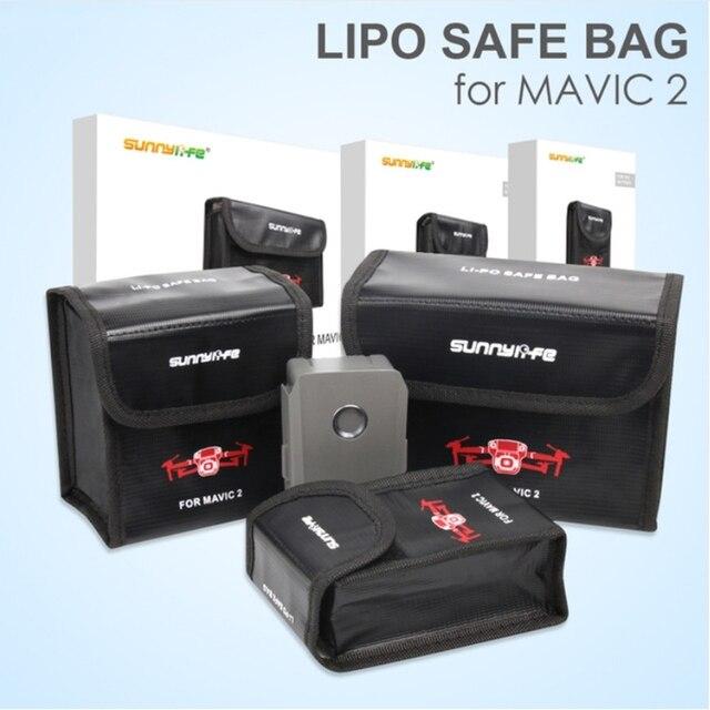 Sunnylife Bolsa de seguridad LiPo a prueba de explosiones, bolsa de almacenamiento protectora de batería para Dron DJI MAVIC 2 PRO y ZOOM