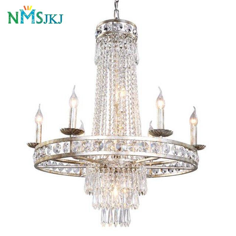 American Vintage LED Crystal Pendant Lights Individual Design for Bar Cafe Garment Shop Living room Hotel Restaurant