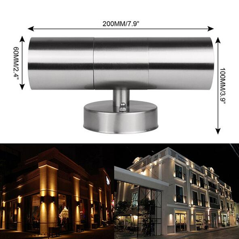 Led Wall Light Ip65: 6W Waterproof Stainless Steel Up Down LED Wall Light