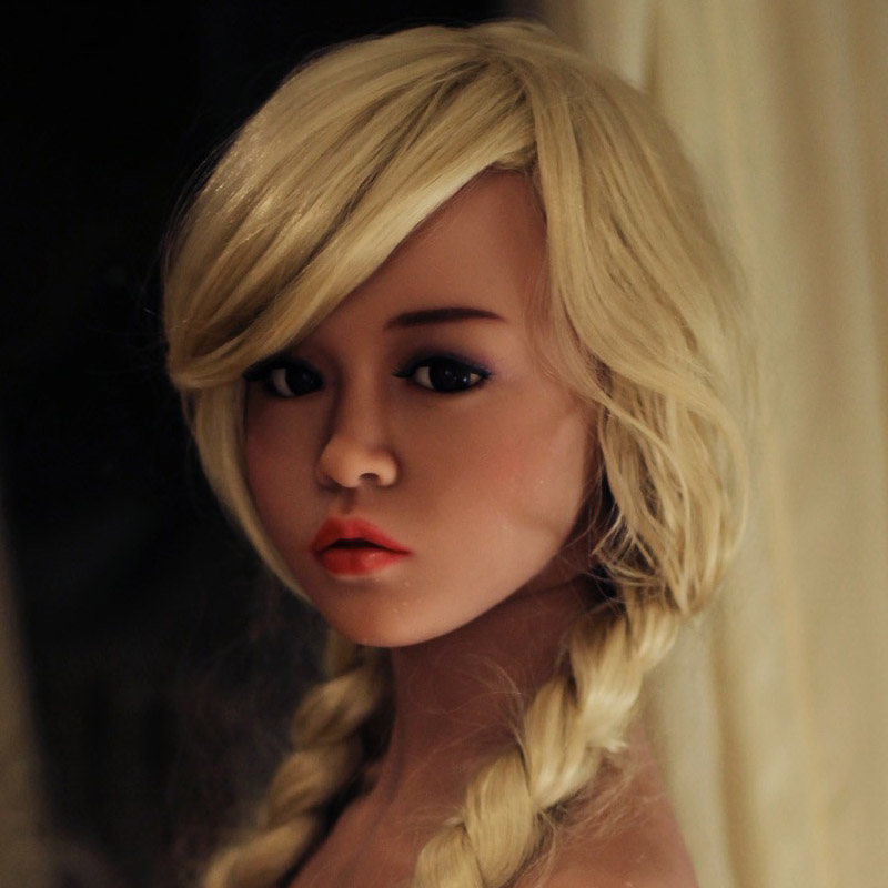 NEW #88 Top quality Tan skin sex doll head for silicone dolls, love doll heads with oral sex, adult sex toy 2017 newest top quality head 56 big doll s head tan skin sex doll head for silicone sex doll suitable for more than 140cm doll