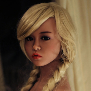 NEW #88 Top quality Tan skin sex doll head for silicone dolls, love doll heads with oral sex, adult sex toy