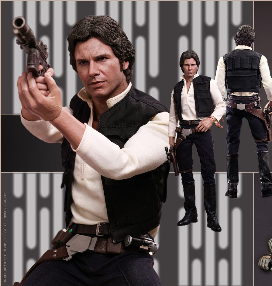 1 6 scale figure doll Star Wars Episode IV A New Hope Han Solo Harrison Ford