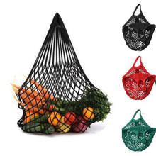 1Pcs Large Size String Shopping Grocery Bag Reusable Shopper Tote Mesh Net Woven Cotton Storage Handbag Free Shipping