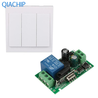 1pc Three Push Buttons Switch Interruptor Light Switch 1pc Single Channel Wireless Control Relay Control Board