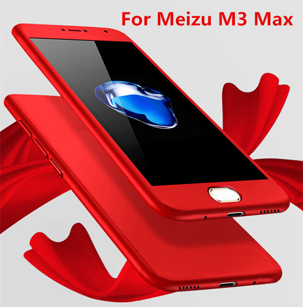 For Meizu M3 Max Case 6.0 360 thin Mobile Phone Case+Tempered Glass For meizu meilan max case Full Body Cover Protective Coque