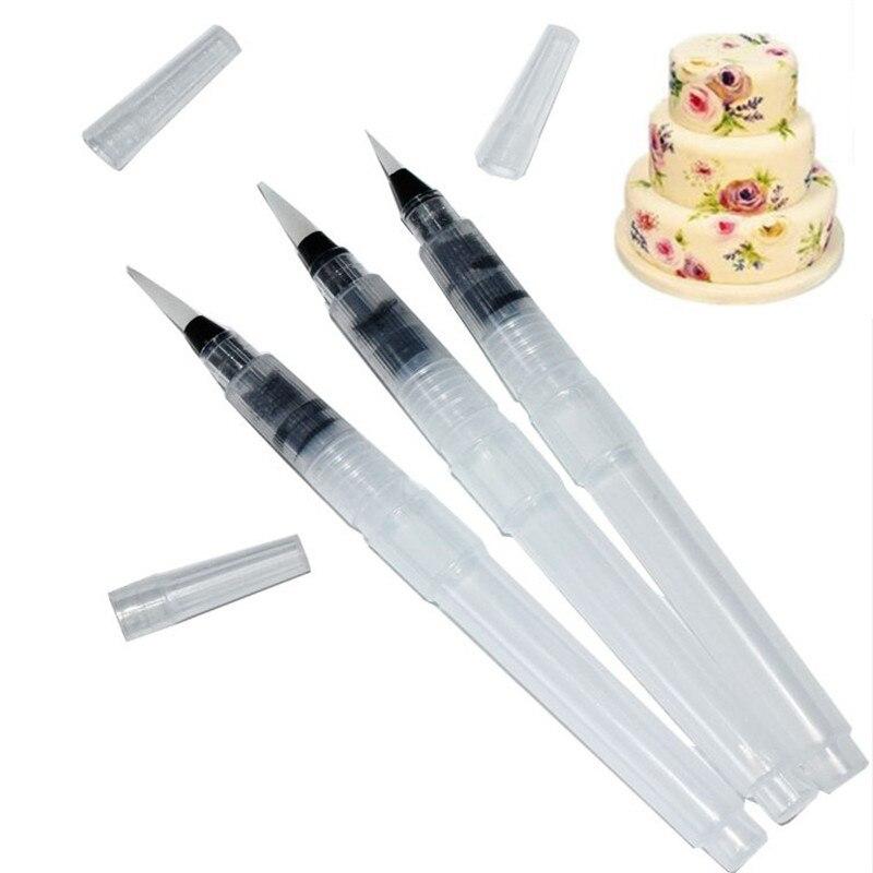 TTLIFE 3 шт./компл., ручка для рисования водой, помадка для украшения торта, пластиковая акварель, сделай сам, помадка для украшения торта, инстру...