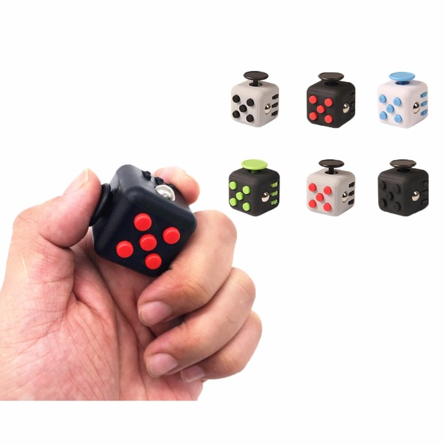 11 Styles Squeeze Fun Stress Reliever Gifts Cube Relieves Anxiety and Stress Juguet For Adults Fidget Cube Desk Spin Toys