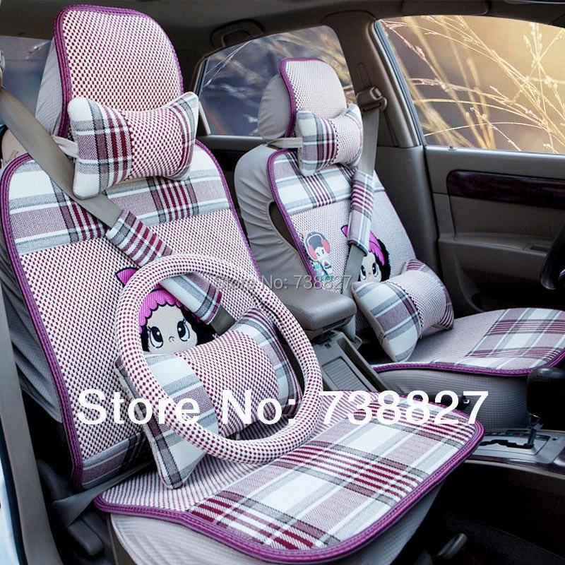 4 color choice car covers set fiberflex cute baby car seat cover set beautiful tartan design. Black Bedroom Furniture Sets. Home Design Ideas