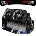 Alseye c-memória ram cooler 2 peça pwm 60mm fan para computador ram ddr2/3/4/5 refrigerador ventilador de refrigeração para computador matherboard