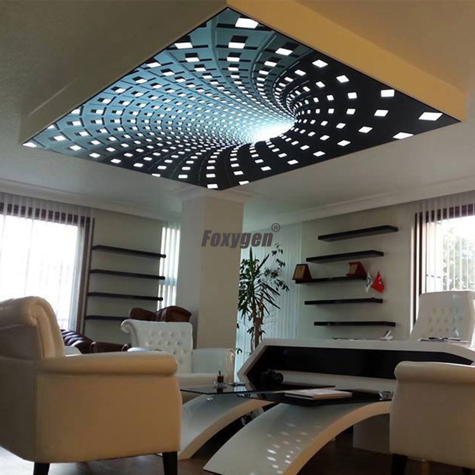 New Pop Low Price China Living Room Uv Printed 3d Effect Pvc Stretch Ceiling Professional Design 3d Design Living Room Ceiling Design3d Ceiling Aliexpress