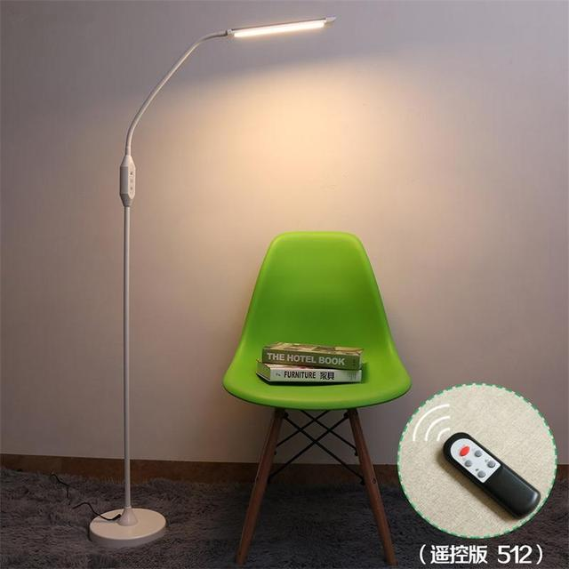 Modern Eye-protective LED Floor Lamps For Living Room Piano Standing Lights 8W 5-level Brightness Floor Home Lighting Fixtures