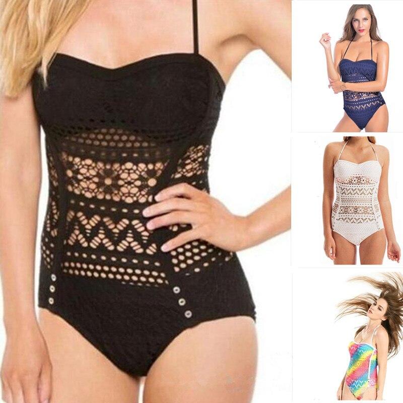 One Piece Swimsuit 2019 Swimwear Women Plus Size S 4XL Push Up Monokini Solid Bodysuit Set Sexy Beach Wear Maillot de Bain Femme in Body Suits from Sports Entertainment