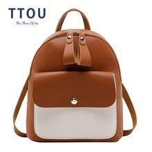 2405e98e4 TTOU mujer de cuero suave de la PU Mini mochilas para los estudiantes de  hombro mochilas