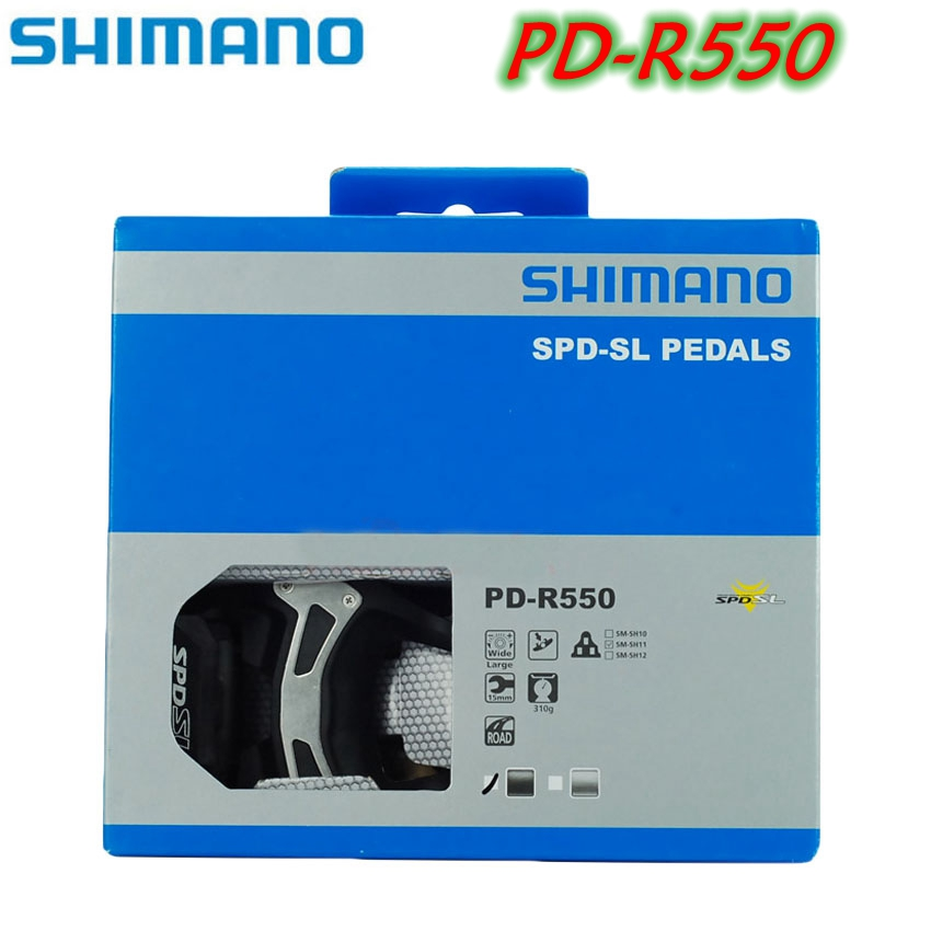 Original Shimano PD R550 Self-Locking SPD Pedal Road Bike Pedals With SH11 for Racing Cleats Cycling Bicycle accessoriesOriginal Shimano PD R550 Self-Locking SPD Pedal Road Bike Pedals With SH11 for Racing Cleats Cycling Bicycle accessories