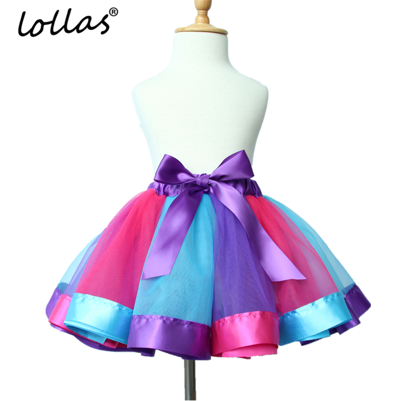 Lollas Summer Style Girl Skirt Baby Kids Children Tutu Skirt Short Rainbow Skirt Princes ...