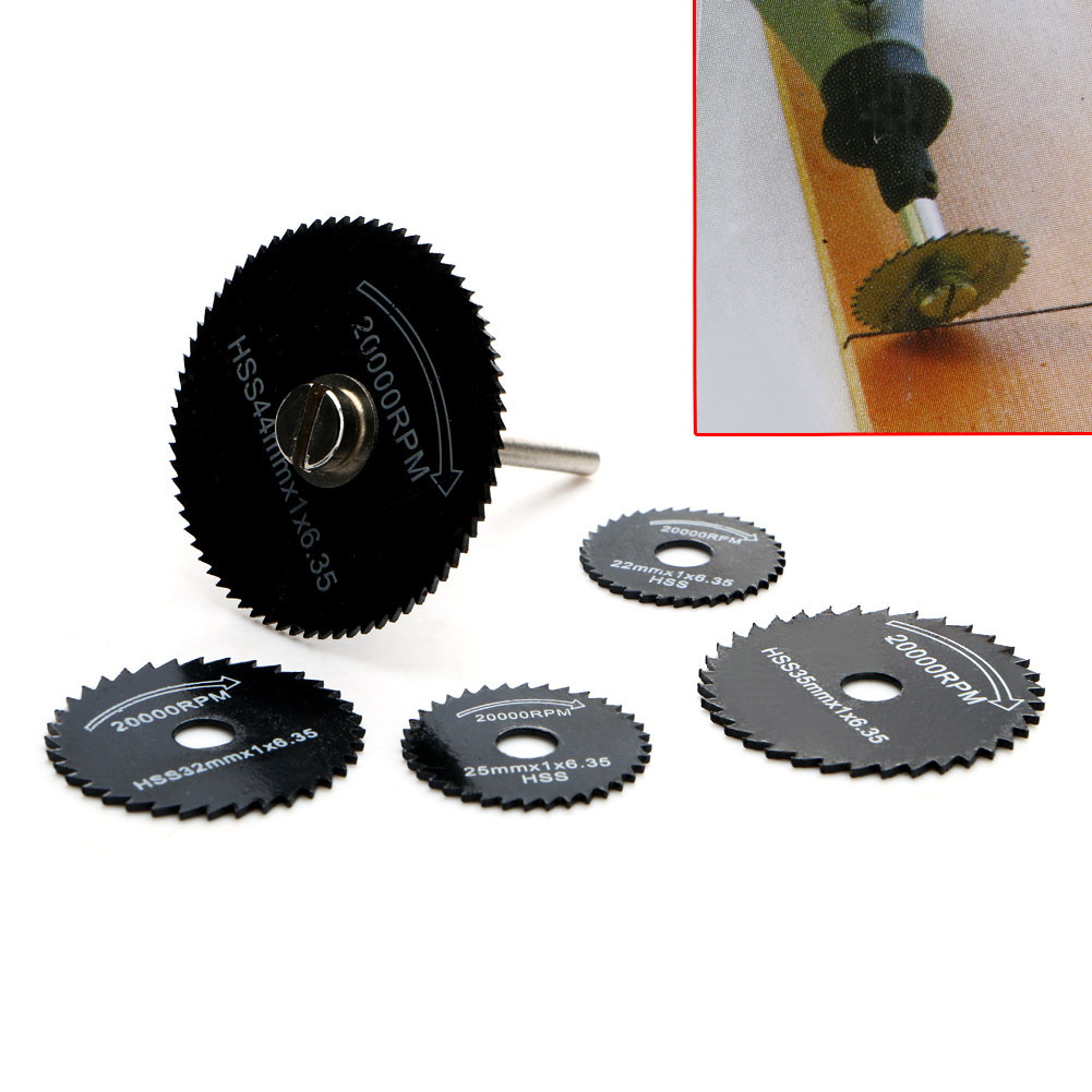 NEW 6Pcs/Set HSS Rotary Circular Saw Blade Cutting Discs Cutter Power Cut-Off Wheel For  Metal Rotary Shank Mandrel  цены