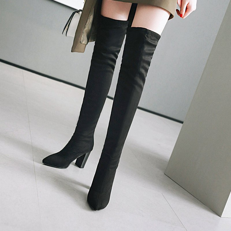 Detail Feedback Questions about Meotina Thigh High Boots Winter Sexy ... 328667383676