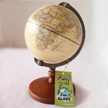 Pedestal English edition Wooden decorative world globe vintage globe Geography terrestrial globe vintage wooden crafts globo цена