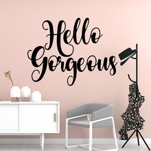 цена на Cute hello letter Wall Sticker Pvc Removable Pvc Wall Decals Vinyl Art Decal Wall Stickers for bedroom