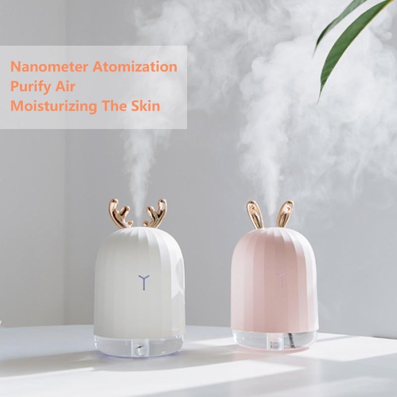 Diffuseur d'huile essentielle d'arome d'humidificateur d'air ultrasonique de haute qualité de 220 ML pour le fabricant de brume de brumisateur d'usb de voiture à la maison avec la lampe de nuit de LED