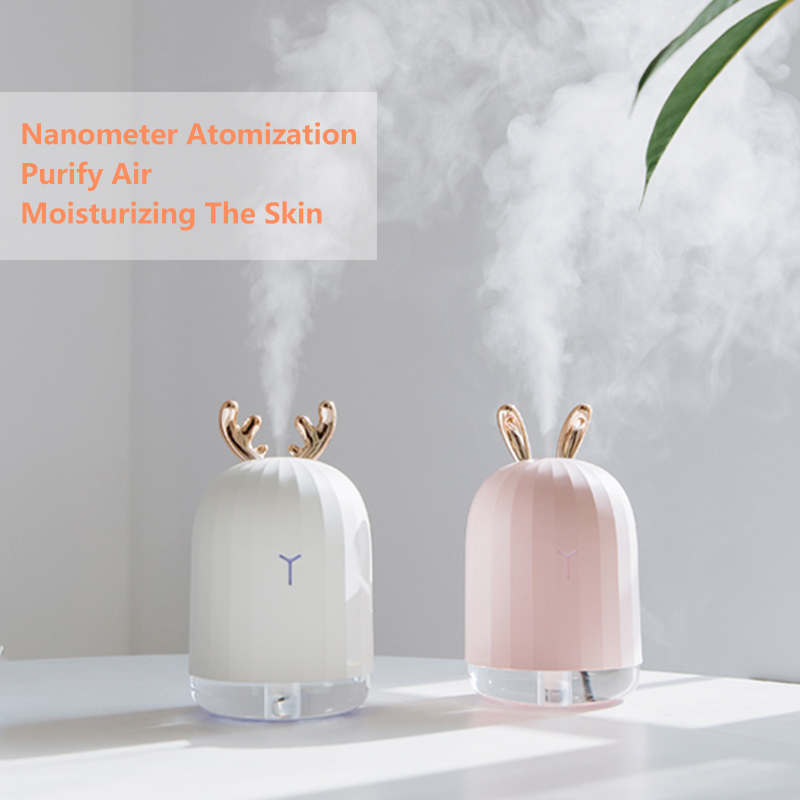 High Quality 220ML Ultrasonic Air Humidifier Aroma Essential Oil Diffuser for Home Car USB Fogger Mist Maker with LED Night Lamp