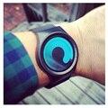 SINOBI Мужская Мода Часы Простой Кварцевые Часы для Парня Мужской Уникальный Дизайн Спорт Движение Двойной Наручные Часы