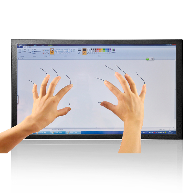 ZHIXIANDA GC215 21.5 Inch Multi Touch Screen Monitor Cheap Capacitive Touch Screen Monitors with VGA/HDMI/USB Speakers
