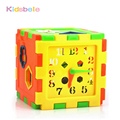 Model Building Kits Plastic Toy&Hobbies Colorful Educational Brick Toys For Children Kid Box Learn Time Shape Preschool Baby Toy