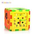 Modelo Kits de Construcción De Juguete De Plástico y Pasatiempos Educativos Coloridos Juguetes del Ladrillo Para Los Niños Del Cabrito Caja de Tiempo de Aprendizaje Forma Preescolar Bebé juguete