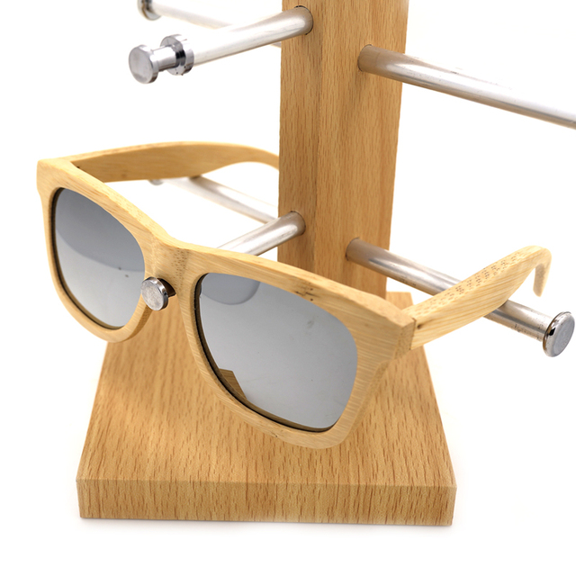 BOBO BIRD Men's Wooden Bamboo Sunglasses Polarized UV400 Protection Wood Glasses Frames With Colorful Lens In Wood Box