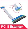 19cm PCI-E PCI E express 1X to 16X riser card Flexible ribbon adapter extender cable